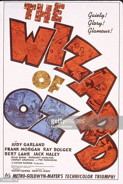 Poster of the film 'The Wizard Of Oz' starring Judy Garland and directed by Victor Fleming 1939