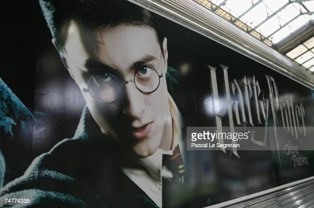 Poster of the Harry Potter And the Order Of The Phoenix film are seen on June 19 2007 in Gare du Nord railway station in Paris France