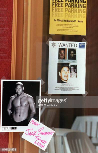 A poster of the number one suspect in the killing of designer Gianni Versace is displayed at the entrance of a bar in West Hollywood CA 17 July The...