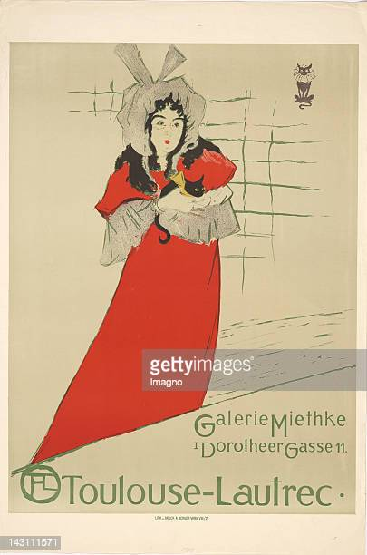 Poster of the ToulouseLautrec exhibition at the Viennese gallery Miethke Print of Albert Berger Vienna Colour Lithography 1909