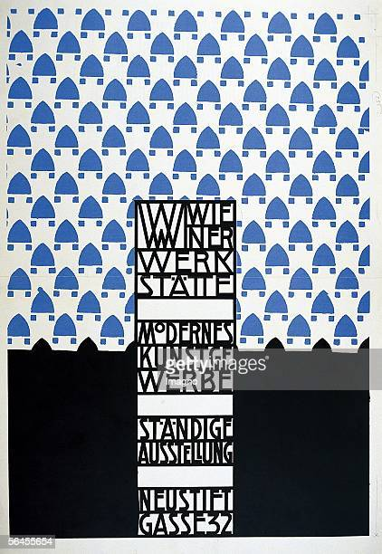 Poster of the Wiener Werkstaette for the Modernes Kunstgewerbe Staendige Austellung Neustiftgasse 32 Vienna Around 1905 [Plakat der Wiener...