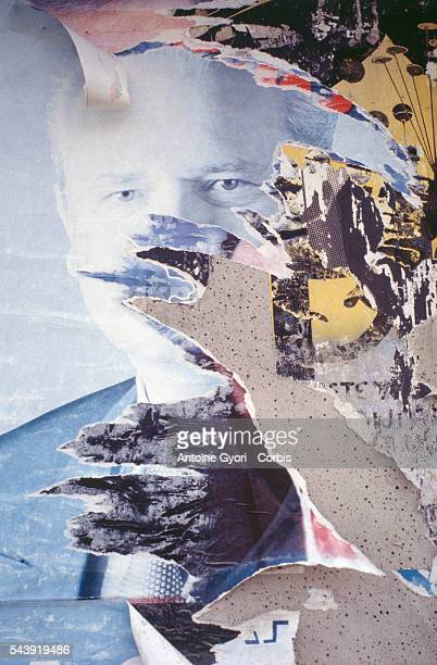 A poster of Yugoslavian president Slobodan Milosevic has been torn from a wall by Albanian separatists In the 1990s President Milosevic and his...