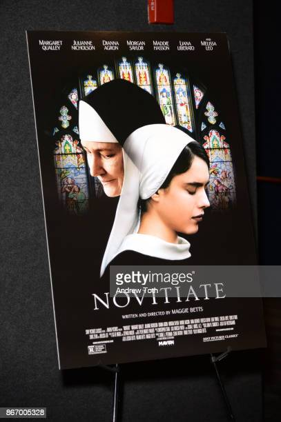 A poster on display during a screening of Sony Pictures Classics' 'Novitiate' hosted by The Cinema Society at The Landmark at 57 West on October 26...