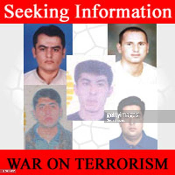 FBI poster posted on the FBI website of five men who the FBI says entered the US illegally and who they want for questioning is seen December 29 2002...