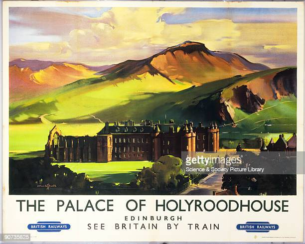 Poster produced by BR to promote travel to the Palace of Holyroodhouse in Edinburgh one of the Queen�s official residences Artwork by Claude Buckle...