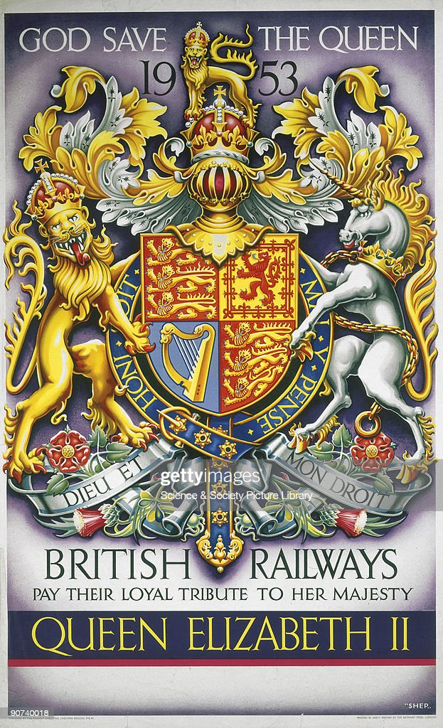 Poster Produced By British Railways As A Tribute To Queen Elizabeth
