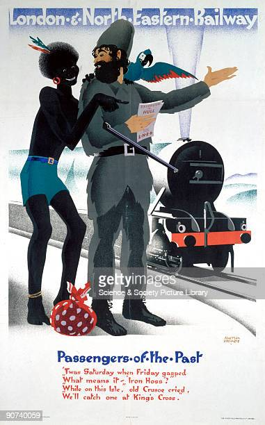 Poster produced by London North Eastern Railway as part of a series entitled �Passengers of the Past� This historic passenger in this poster is...