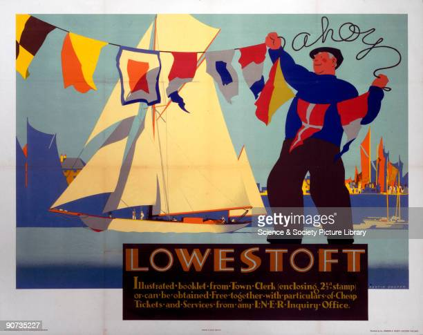 Poster produced by London North Eastern Railway to promote rail travel to Lowestoft in Suffolk Artwork by Austin Cooper a Canadian who studied art in...