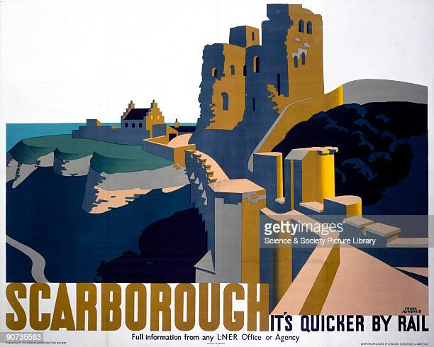 Poster produced by London North Eastern Railway to promote rail travel to Scarborough Artwork by Frank Newbould who studied at Bradford College of...