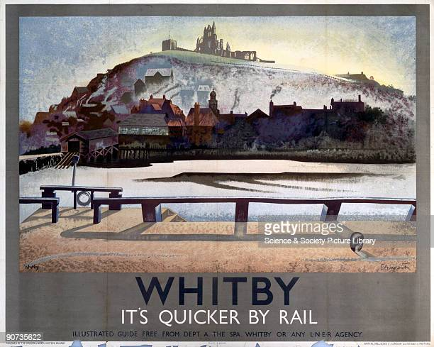 Poster produced by London North Eastern Railway to promote rail travel to Whitby in Yorkshire Artwork by E Arnsworth Dimensions 1016 mm x 1270 mm
