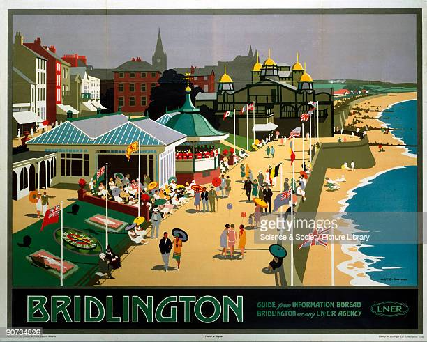 Poster produced by London North Eastern Railway to promote train services to Bridlington North Yorkshire Artwork by Henry George Gawthorn who started...