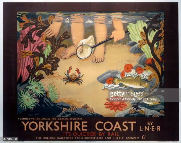 Poster produced by London North Eastern Railway to promote train services to the Yorkshire coast Artwork by Stephen Bone
