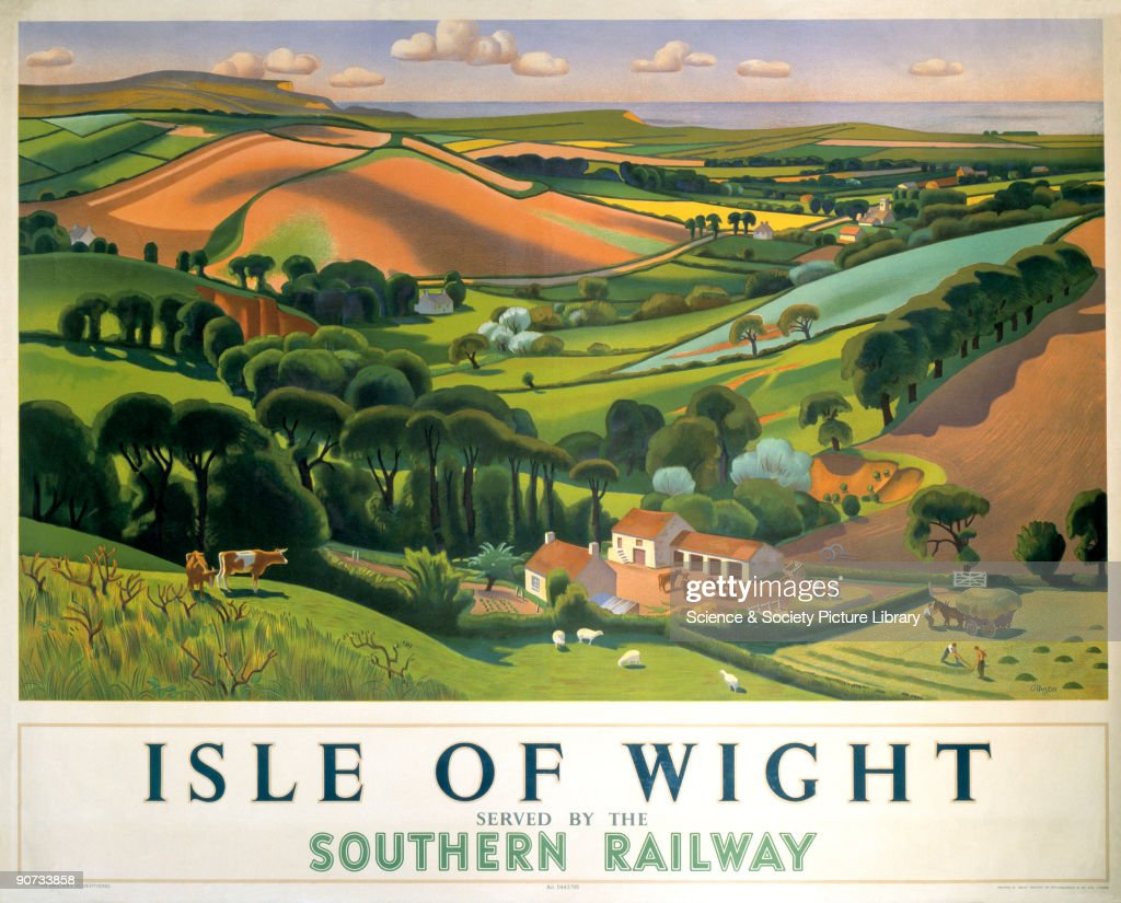 �Isle of Wight�,SR poster, 1946. : News Photo
