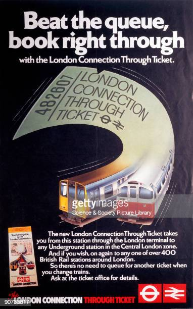 Poster produced for British Railways and London Underground to advertise their London Connection Through Tickets which were valid on both the trains...