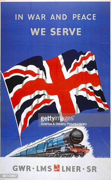 Poster produced for Great Western Railway London Midland Scottish Railway London North Eastern Railway and Southern Railway to promote the railways�...