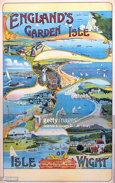 Poster produced for Isle of Wight Railways and Isle of Wight Central Railway to promote the island as an attractive holiday destination. The poster...