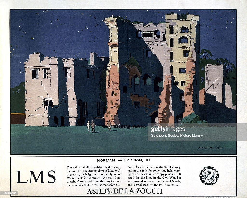 �Ashby-de-la-Zouch�, LMS poster, 1923-1947. : News Photo