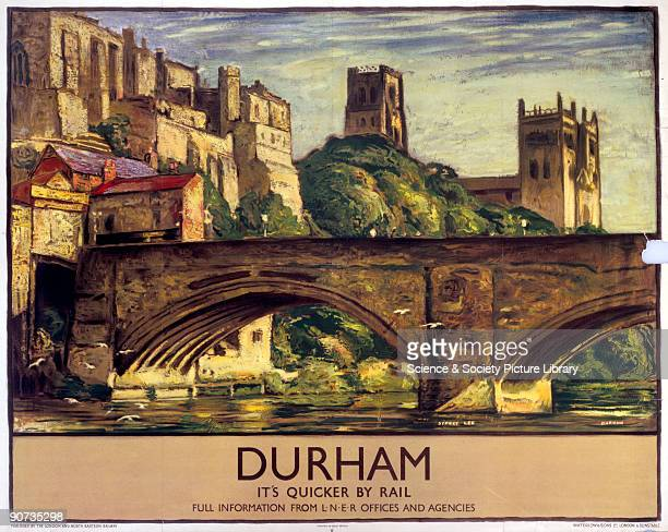 Poster produced for London North Eastern Railway to promote rail travel to the historic city of Durham Artwork by Sydney Lee Dimensions 1016 mm x...