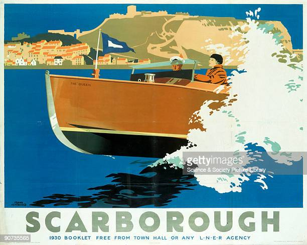 Poster produced for London North Eastern Railway to promote rail travel to Scarborough Yorkshire Artwork by Frank Newbould who studied at Bradford...
