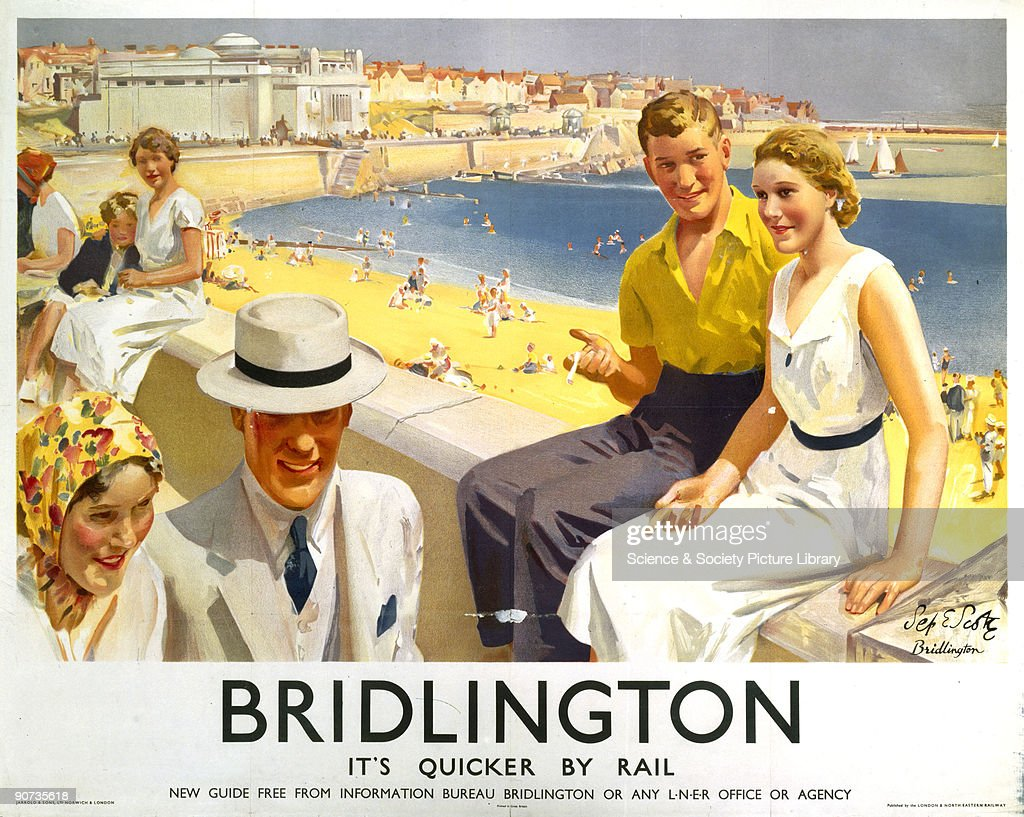 �Bridlington�, LNER poster, 1935. : News Photo