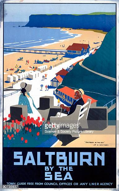 Poster produced for London North Eastern Railway to promote rail travel to SaltburnbytheSea Redcar Cleveland Artwork by Henry George Gawthorn who...