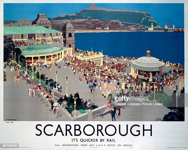 Poster produced for London North Eastern Railway to promote train services to Scarborough North Yorkshire Artwork by Fred Taylor who was commissioned...