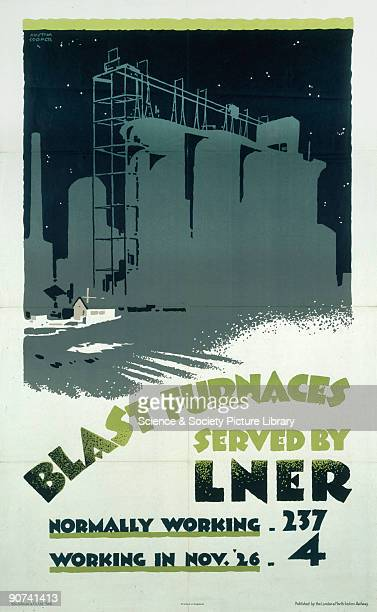 Poster produced for London North Eastern Railway which seeks to convey the magnitude of the General Strike of 1926 which crippled industry Of the...