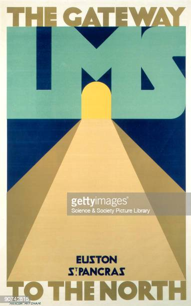 Poster produced for the London Midland Scottish Railway to promote rail services from Euston and St Pancras London to the north of England Artwork by...