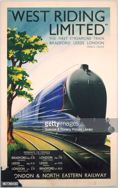 Poster produced for the London North Eastern Railway advertising the �West Riding Limited� the first streamline train operating between Bradford...