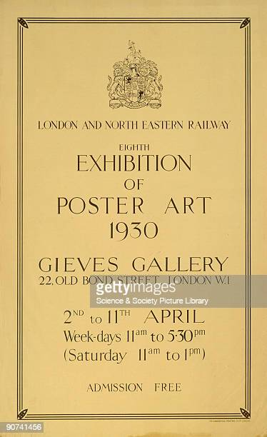 Poster produced for the London North Eastern Railway to promote the eighth exhibition of poster art at the Gieves Gallery 22 Old Bond Street London...