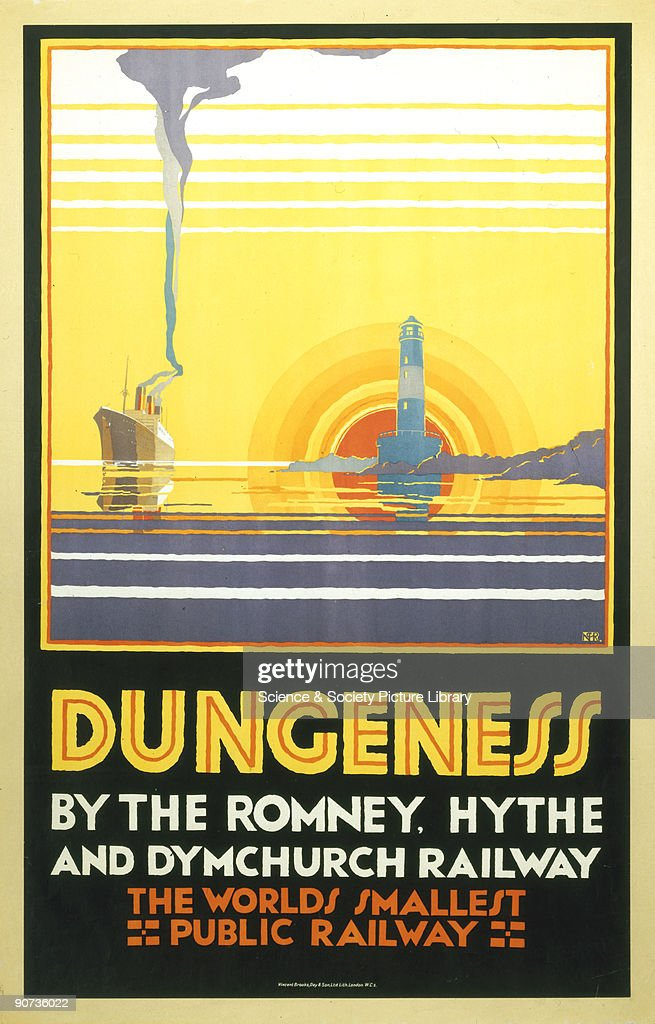 Dungeness�, Romney, Hythe and Dymchurch Railway poster, 1928. : News Photo
