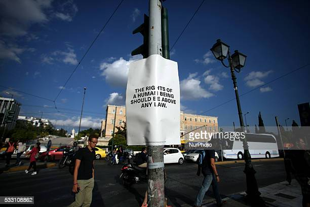 Poster project from Tim Etchells founder and director of Forced Entertainment Etchells fills the streets of Athens with messages from those who cant...