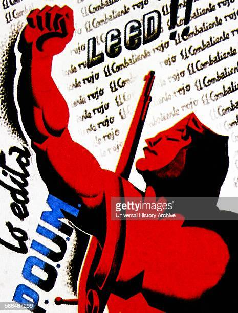 Poster published by the POUM during the Spanish Civil war POUM was the Party of Marxist Unification was a Spanish communist political party formed...