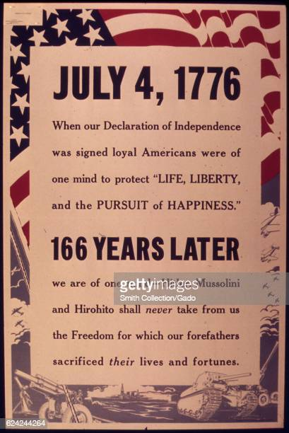 A poster reminding Americans of the history of the Declaration of Independence 1942