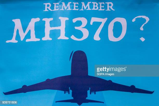 MH370 poster seen at the 4th Annual MH370 Remembrance event Hundreds of people had gathered at the Remember MH370 Its Not History Its Our Future is...
