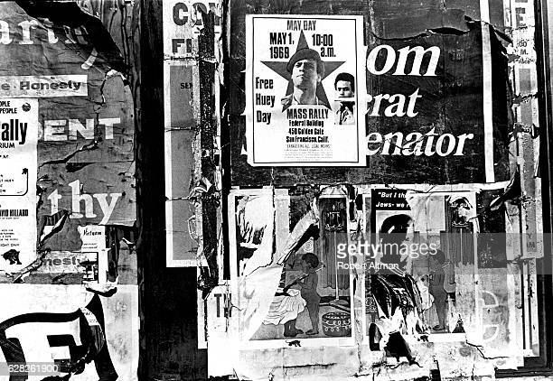 A poster showing a Mass Rally on May Day 1969 The Black Panther Party held rallies across the nation demanding the jailed minister of Defense Huey P...