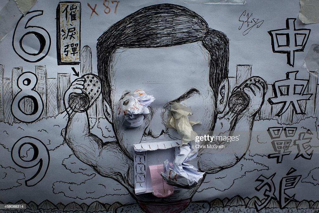 Hong Kong Students Use Artwork To Express Anti CY Leung Sentiments