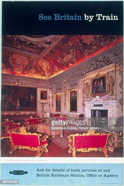Poster shows a photograph of the Double Cube Room, Wilton House, Wilton, near Salisbury.