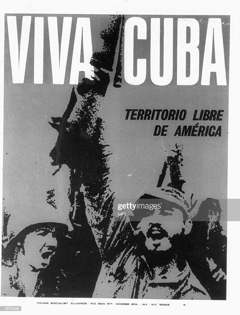 A poster supporting the Cuban revolution.