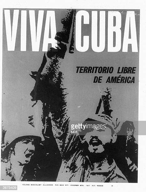 A poster supporting the Cuban revolution