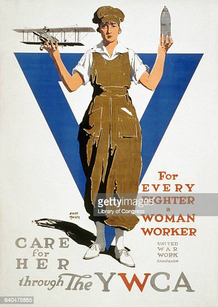 A YWCA poster urges support for women workers of World War I | Located in Library of Congress