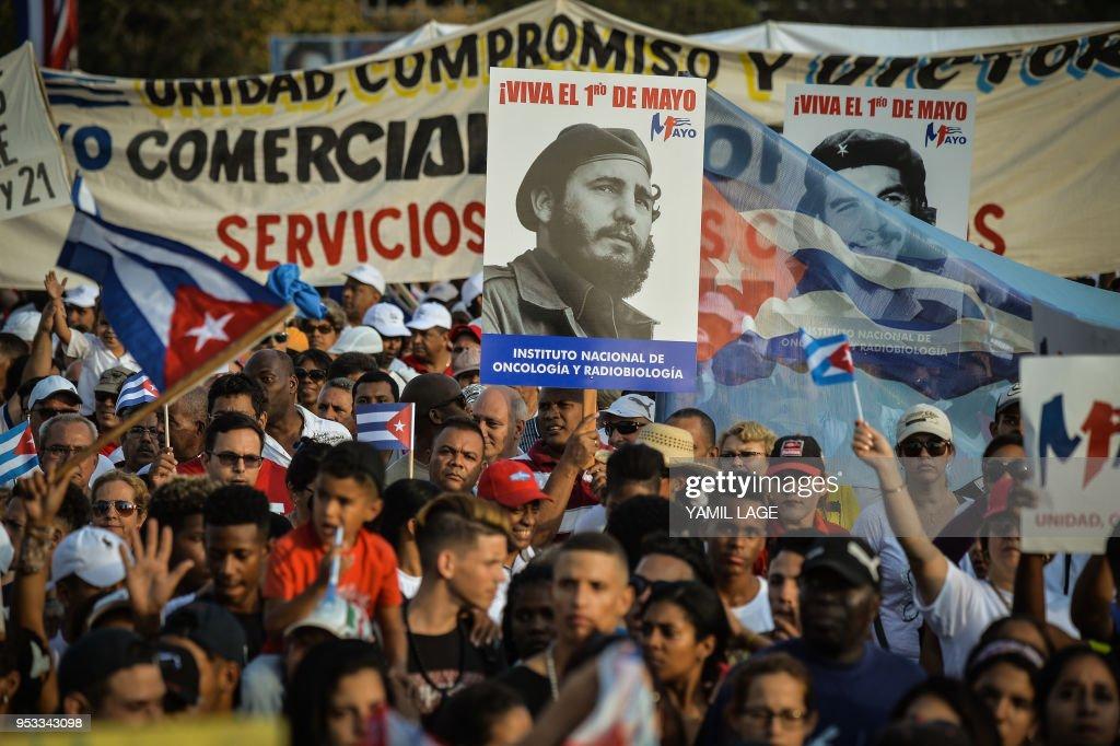 CUBA-MAYDAY-LABOUR-RALLY : Foto jornalística