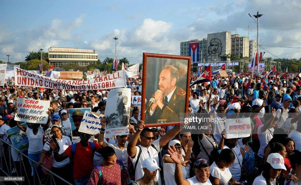 CUBA-MAYDAY-LABOUR-RALLY : ニュース写真