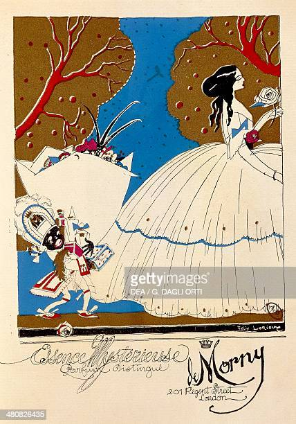Posters, 20th century. Essence Mysterieuse Parfum Distingue de Morny, 201 Regent Street London. Advertisment for a perfume, from the periodical Le...