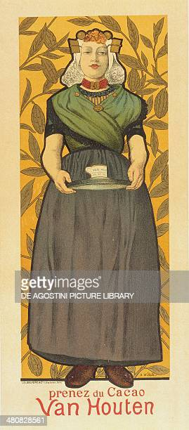 Posters 20th century Prenez du Cacao Van Houten Advertisment illustration by AdolpheLeon Willette Paris Bibliothèque Des Arts Decoratifs