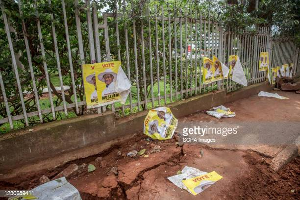 Posters encouraging people to vote for Yoweri Museveni, who has been in power since 1986, were torn down in Nakasero. Uganda's elections, on January...