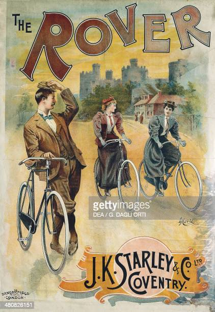 Posters England 20th century The Rover J K Starley Advertising poster for bicycles SaintEtienne Musée D'Art Et De L'Industrie