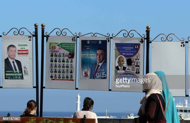 Posters for the next local elections in Algiers Algeria on October 30 2017 Voting for the local elections is scheduled for November 23 2017