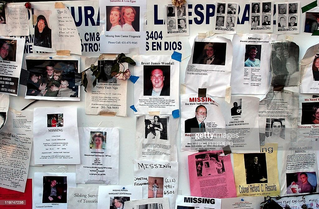 posters for victims of the world trade c pictures getty images