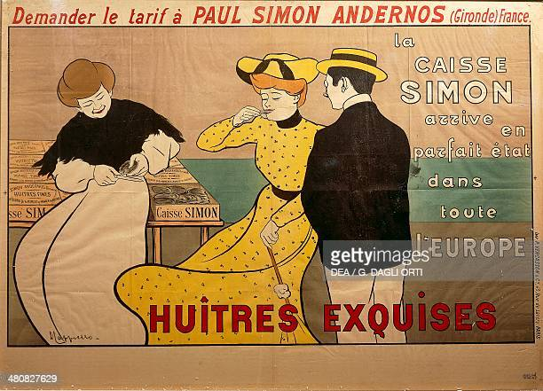 Posters France 20th century Huitres exquises Poster advertising oyster sale by Leonetto Cappiello 1901